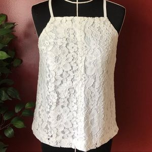 ANTHROPOLOGIE WHITE BLANCHE LACE TANK